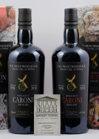 CARONI RED WHITE 1998 - The Wild Parrots - Trinidad Rum - Limited Edition - 2 BOTTLES SET